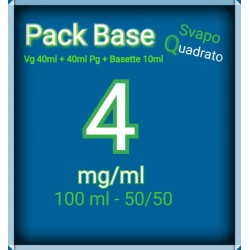 PACK BASE NEUTRA 50VG/50PG NICOTINA 4MG/ML SVAPO QUADRATO 2rshop.it svapo