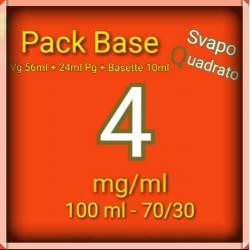 PACK BASE NEUTRA 70VG/30PG NICOTINA 4MG/ML SVAPO QUADRATO 2rshop.it svapo