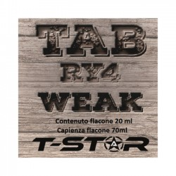 T-SVAPO BY T-STAR AROMA SCOMPOSTO 20ML TAB RY4 WEAK 2rshop.it svapo