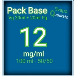 PACK BASE NEUTRA 50VG/50PG NICOTINA 12MG/ML SVAPO QUADRATO 2rshop.it svapo