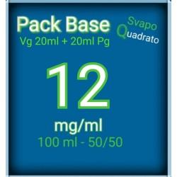 PACK BASE NEUTRA 50VG/50PG NICOTINA 12MG/ML SVAPO QUADRATO 2rshop.it svapo