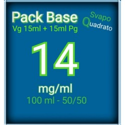PACK BASE NEUTRA 50VG/50PG NICOTINA 14MG/ML SVAPO QUADRATO 2rshop.it svapo