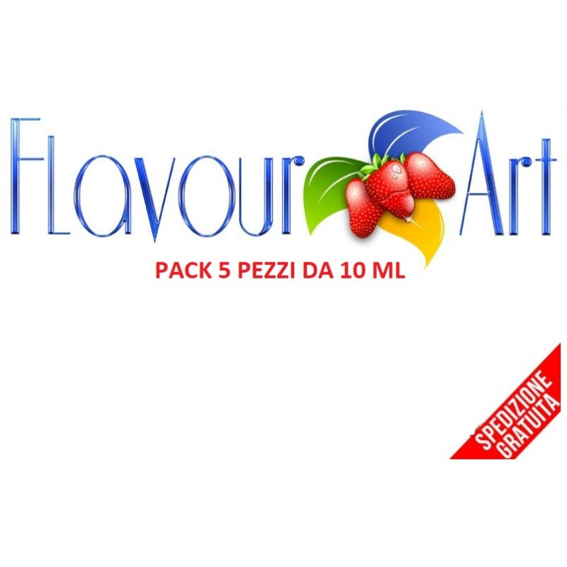 PACK 5 PZ AROMA FLAVOURART 10 ML CONCENTRATO 2rshop.it svapo